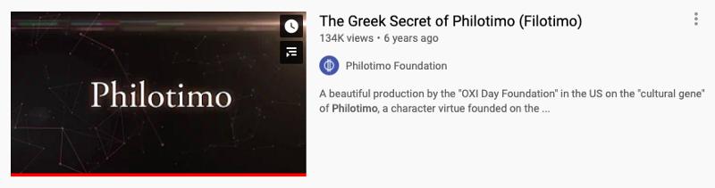 The Greek Secret of Philotimo (14 min)